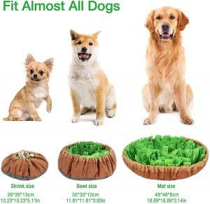 Gobesty Alfombrilla Plegable para Perros,Juguete Inteligente, Alfombra rastreadora, Juguete Interactivo para Perros, Juguete rastreador para Perros, césped para rastrear Juguetes de alimentación Bowl 4