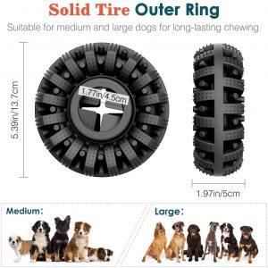 Lewondr Juguete Resistente a Mordeduras para Perros, Cepillo Dientes Limpieza Masticable Alimentador Fuga Caucho Juego Interractivo para Mascotas Grandes Medianos – Negro 5