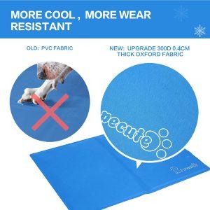 Pecute Alfombra Refrescante para Perro Actualización Engrosada 0.4mm 300D Oxford Alfombrilla de Refrigeración Automática para Animales de Compañía3
