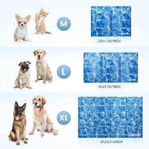 okheira Alfombrilla de Refrigeración para Perro Extra Grande 120x75cm, Camas refrescante para Mascotas, Alfombra Fría de Gel No tóxico, Perros, Gatos y Animales en el Cálido Verano (M)3