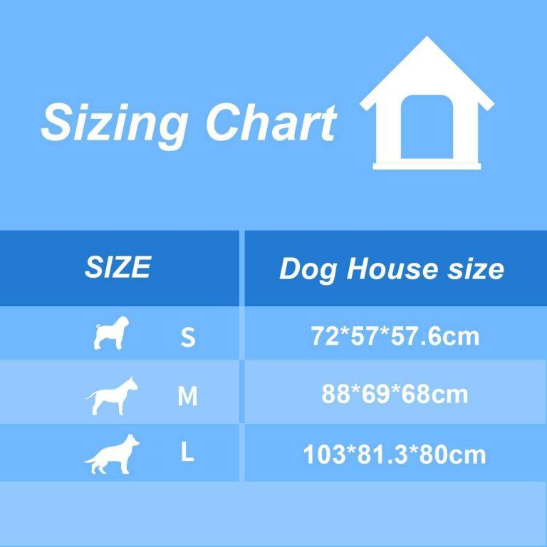 Nobleza - Caseta para Perros de Polipropileno Impermeable con tejado a Dos Aguas para Interior y Exterior. Blanco y Verde 72x57x57.6cm3
