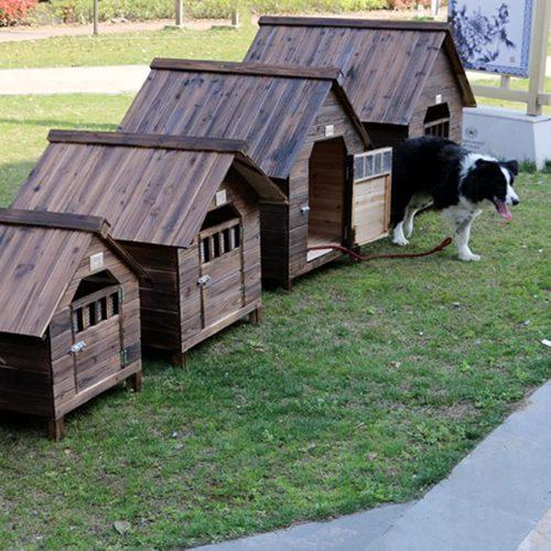 Casetas para Perros Grandes Exterior Impermeables, Caseta de Madera para Perros Gatos, Caseta Perros Exterior con Puerta, Casa Perro Mediano Casa, Perro Grande, Casa Perro Pequeño(Size:56*45*48cm)