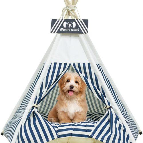 Tipi para Mascotas | Perrera para Perros& Gatos | Tienda para Mascotas con CojIn